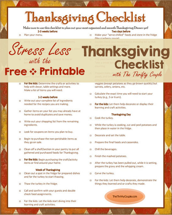 Thanksgiving Checklist Pictures Photos And Images For