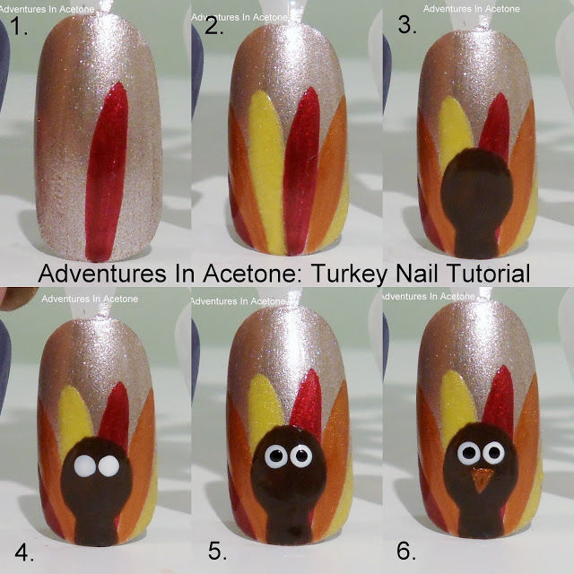 DIY Thanksgiving Turkey Nails
