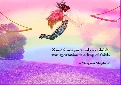 Sometimes Your Only Available Transportation Is A Leap Of