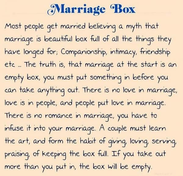 Love Quotes About Life: Marriage Box Pictures, Photos, And Images For Facebook