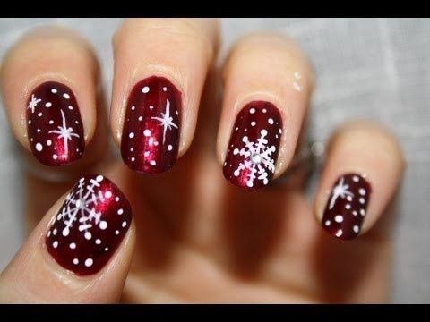 Christmas Snowflake Nail Art - Christmas Snowflake Nail Art Pictures, Photos, And Images For