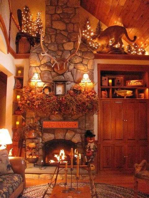 Autumn Living Room Decorating Ideas: Home Decorated Beautifully For Autumn Pictures, Photos