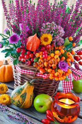 Gorgeous Bright & Colorful Thanksgiving Centerpiece