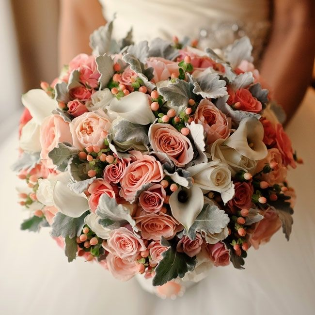 Calla Lilies Peach Roses Bouquet Pictures Photos And Images For