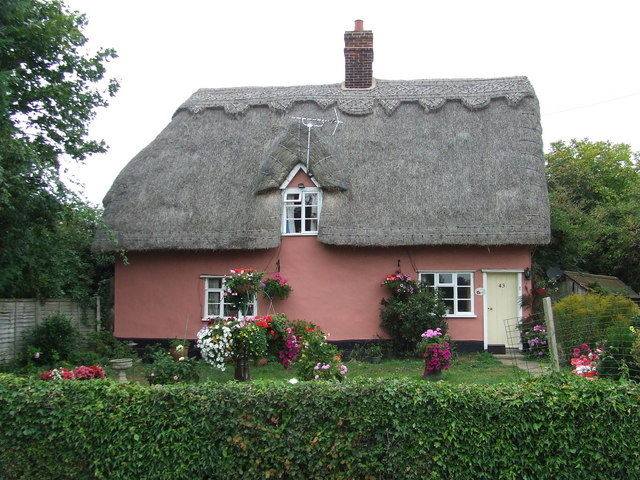 pink cottage at gosbeck suffolk pictures photos and