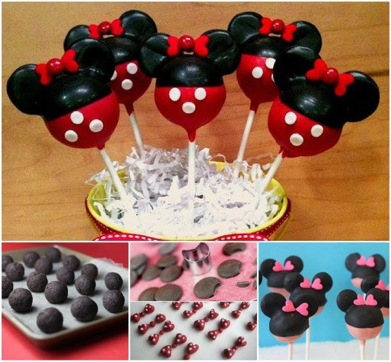 Diy Disney Cake Pops With A Minnie Mouse Theme Pictures