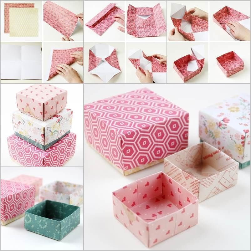 How To Tutorial For Origami Styled Gift Boxes