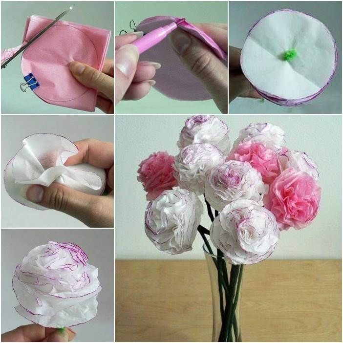 How To Make Flowers Out Of Paper Pictures, Photos, and Images for ...