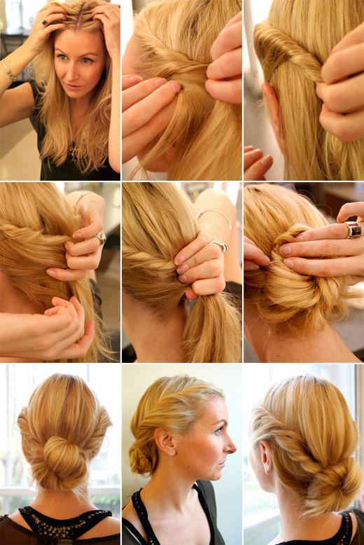 Фото простых причесок на средних волосах - Фото прически на средние волосы (100 примеров)