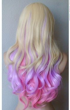 Hairstyle For Delicate Blonde – Dyed Ends On Powdery Colors ...
