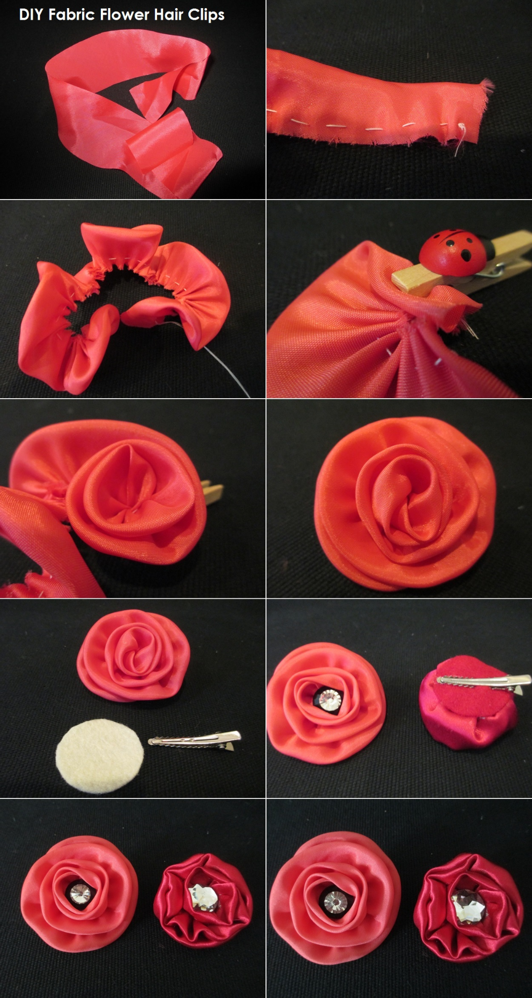 How to Make Fabric Flowers for Hairstyling