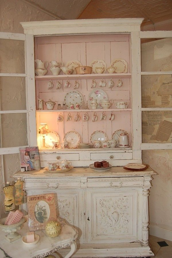 shabby chic china hutch pictures photos and images for facebook tumblr pinterest and twitter. Black Bedroom Furniture Sets. Home Design Ideas