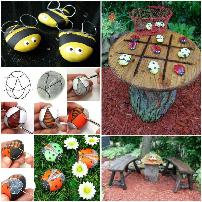 How To Make A Bug Tic Tac Toe Garden Table Pictures