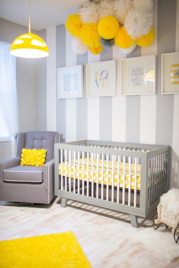 Gray and yellow babies room pictures photos and images - Gray and yellow baby room ...