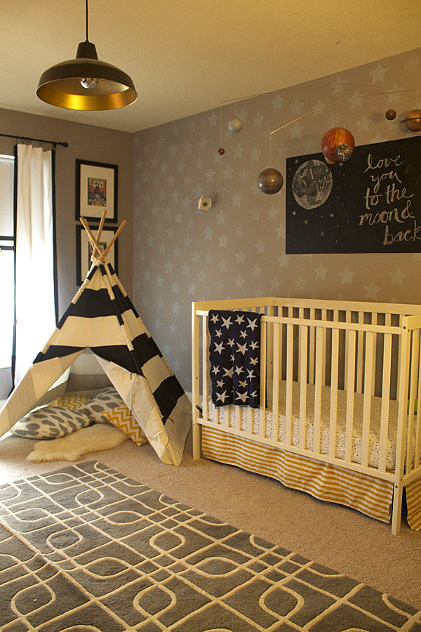 Traditional Space Theme Nursery Pictures, Photos, and