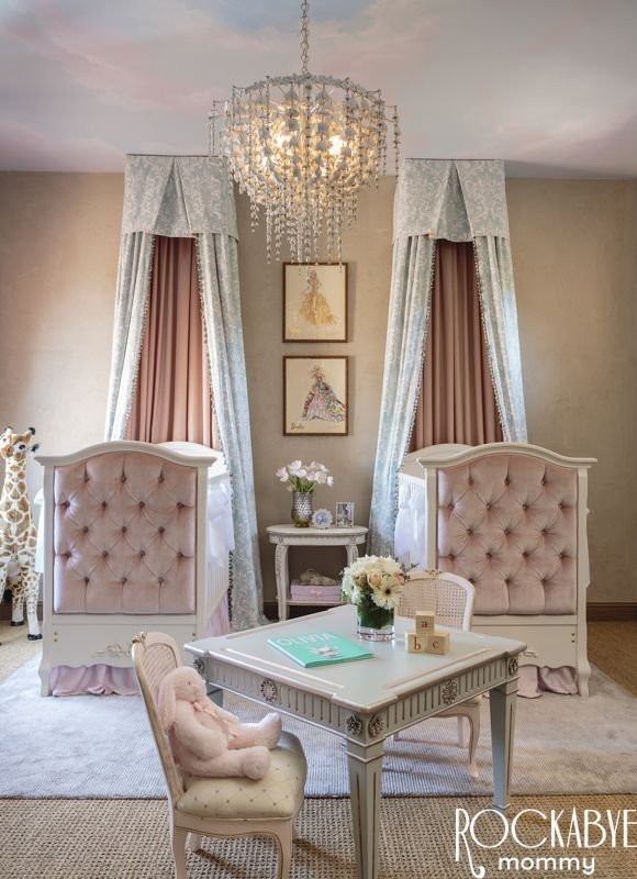 Baby Girl Nursery Ideas: Elegant Twin Nursery Bedroom Pictures, Photos, And Images