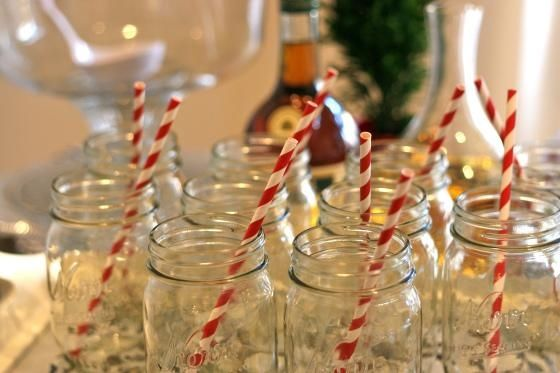 Mason Jars With Candy Cane Straws Pictures Photos And