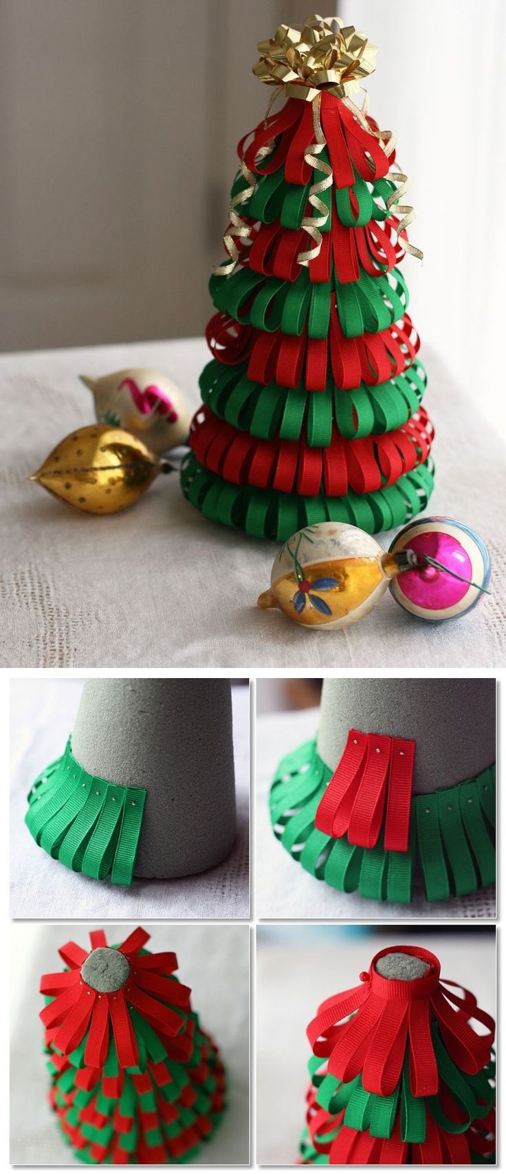 DIY Ribbon Christmas Tree Pictures