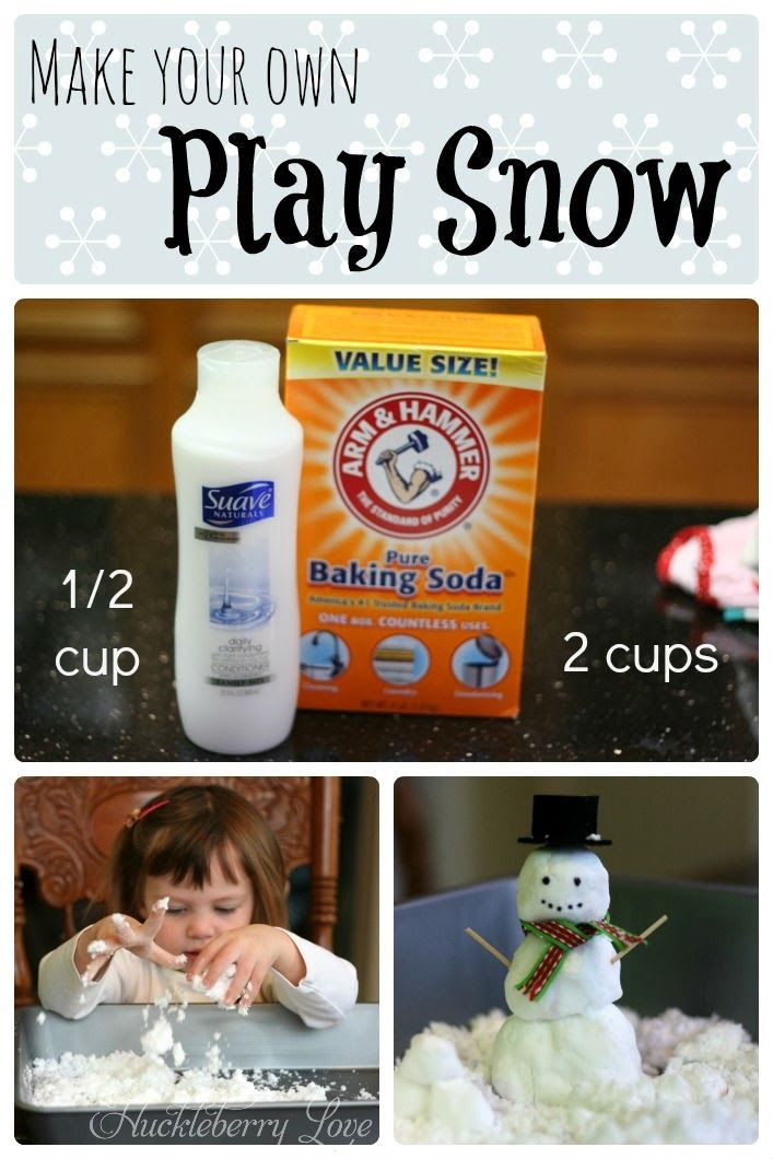 Make your own play snow pictures photos and images for for Fake snow recipe for crafts