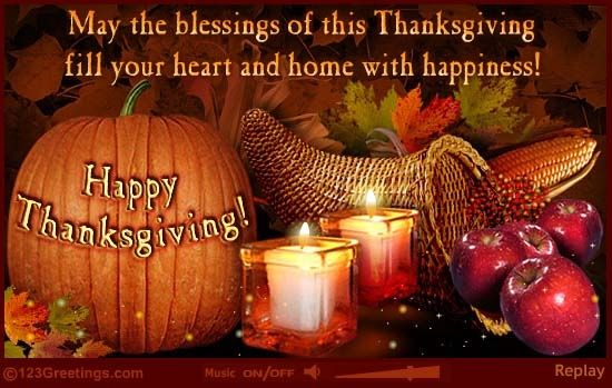May The Blessings Of Thanksgiving Fill Your Heart And Home