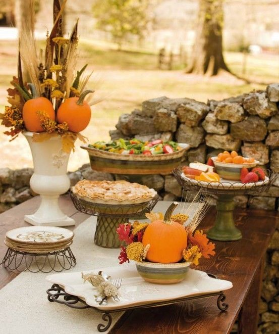 outdoor thanksgiving table pictures photos and images. Black Bedroom Furniture Sets. Home Design Ideas