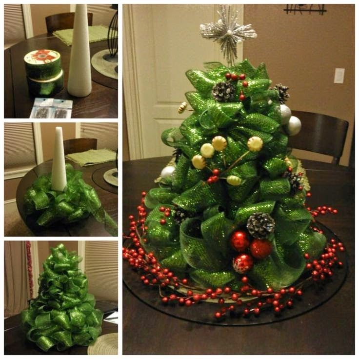 How To Make A Mesh Christmas Centerpiece Pictures, Photos, and ...