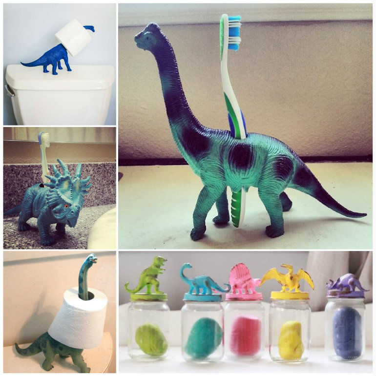 Cool organization ideas using dinosaurs pictures photos for Cool diy storage ideas
