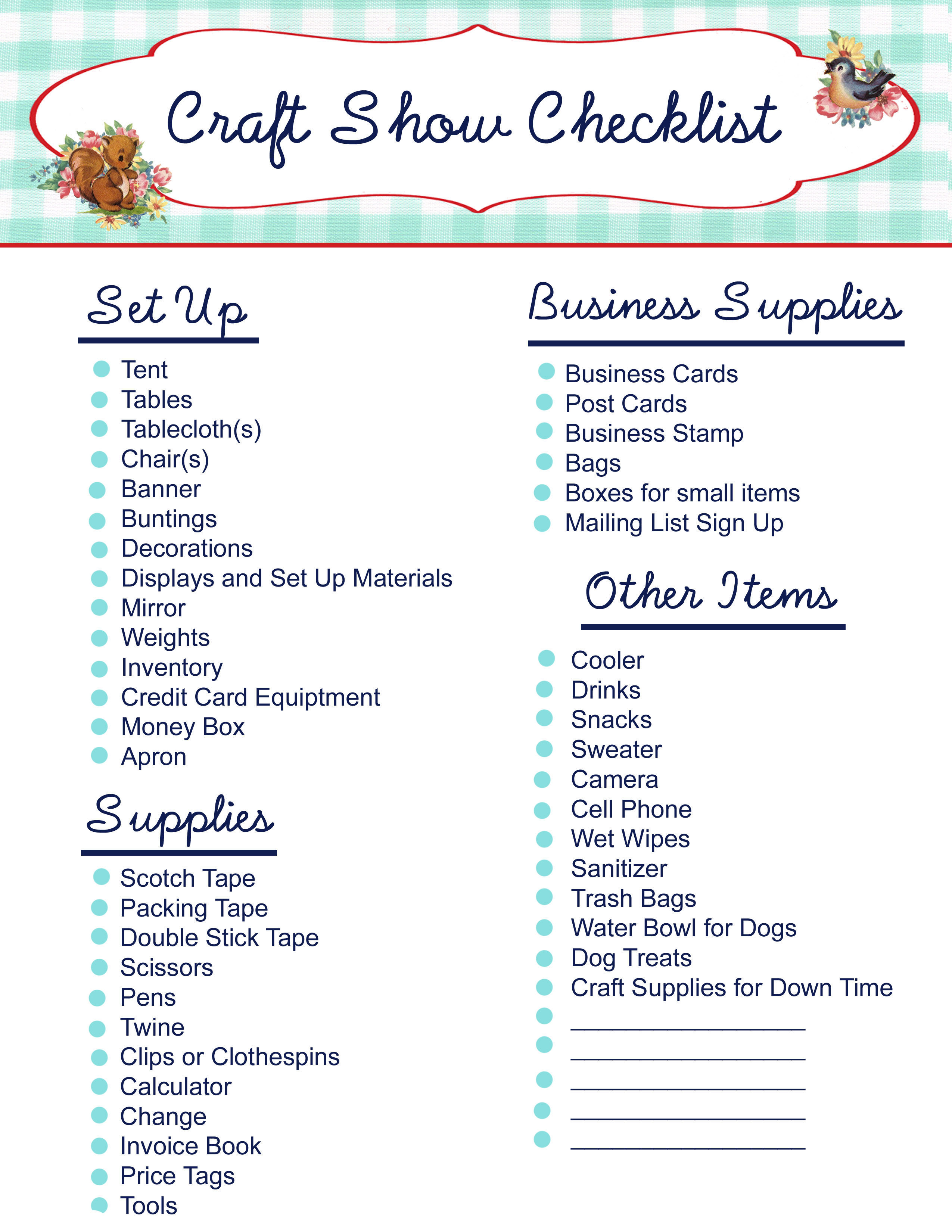 craft show checklist pictures  photos  and images for