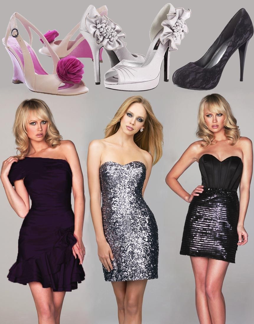 Holiday Party Cocktail Dresses Part - 35: 3 Styles Of Holiday Party Dresses U0026 High Heels