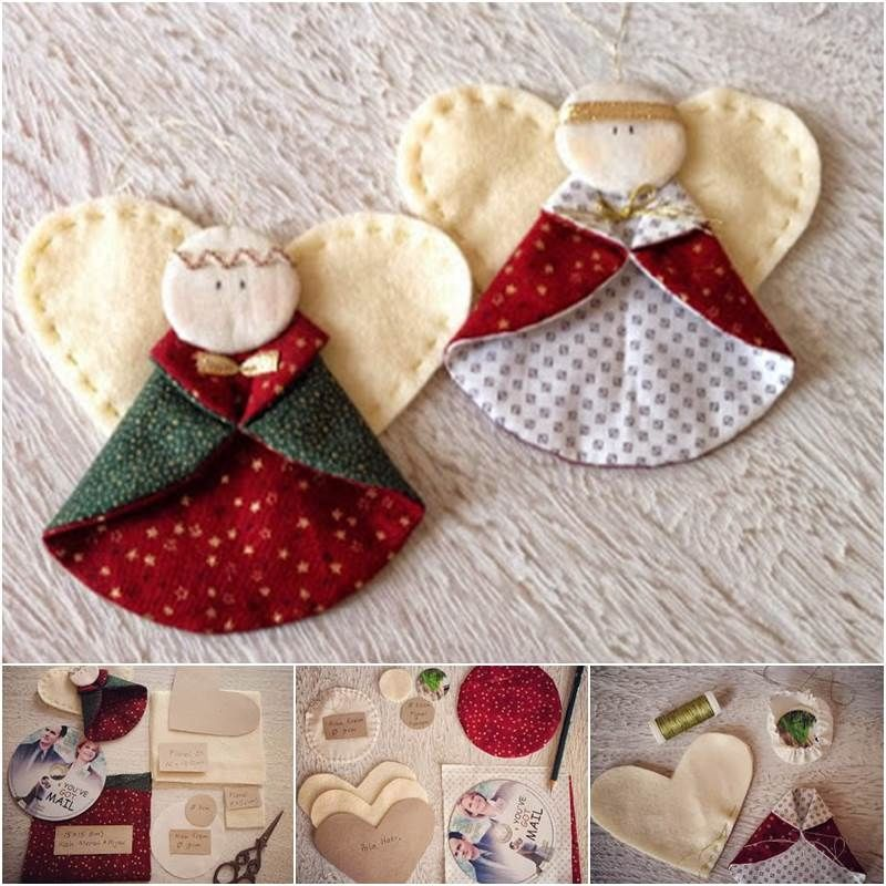 How To Create Angel Fabric Ornaments Pictures, Photos, And