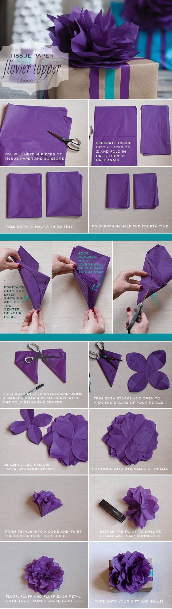 diy tissue paper flower pictures  photos  and images for