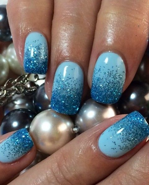 Nail Art Blue Glitter: Blue Glitter Nails Pictures, Photos, And Images For