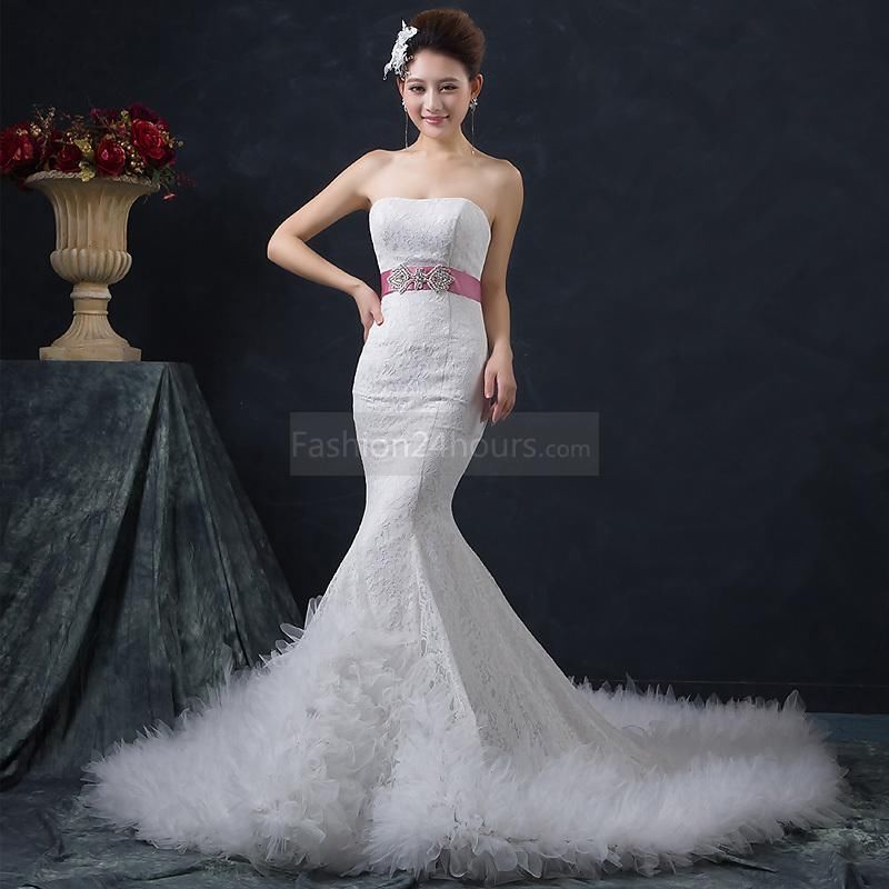 Belted Mermaid Wedding Dress Pictures, Photos, and Images for ...