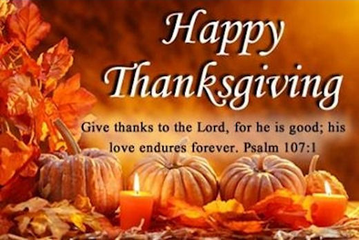 Happy Thanksgiving Give Thanks To The Lord