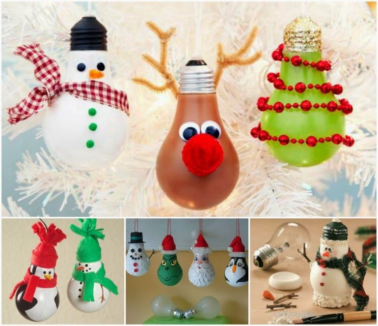 How To Make Christmas Ornaments Part - 49: How To Make Light Bulb Christmas Ornaments