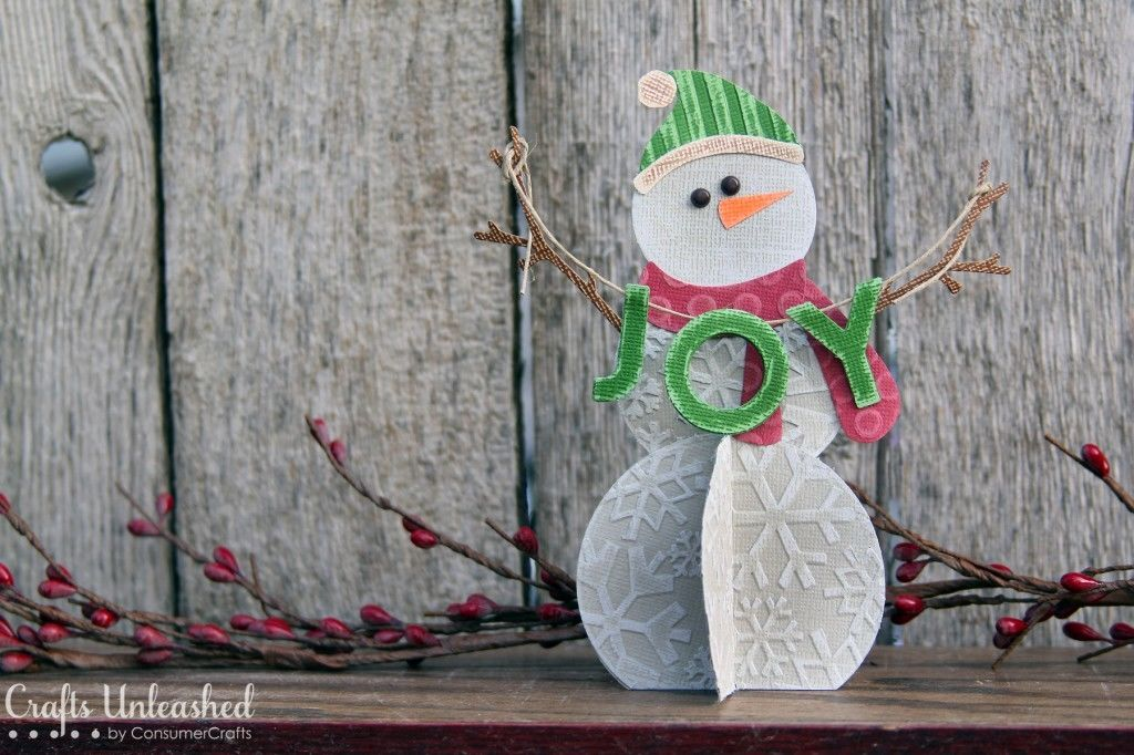 How to make a snowman made of paper