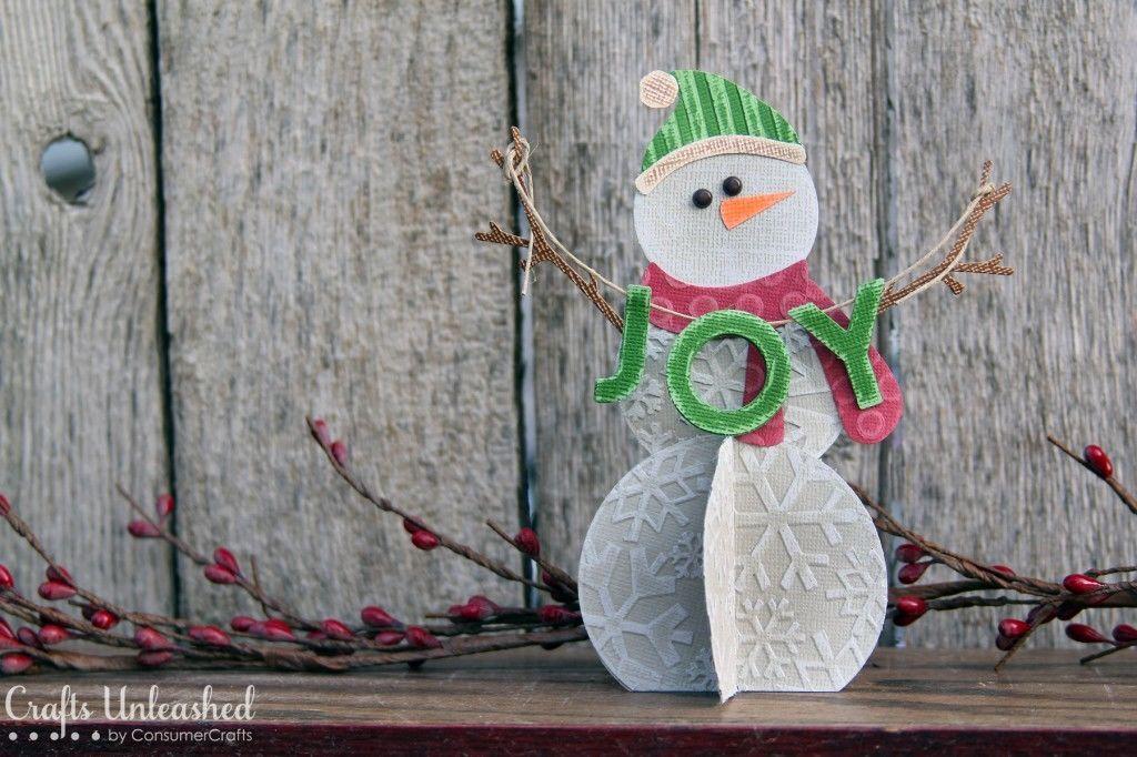 Объемные снеговики своими руками из бумаги