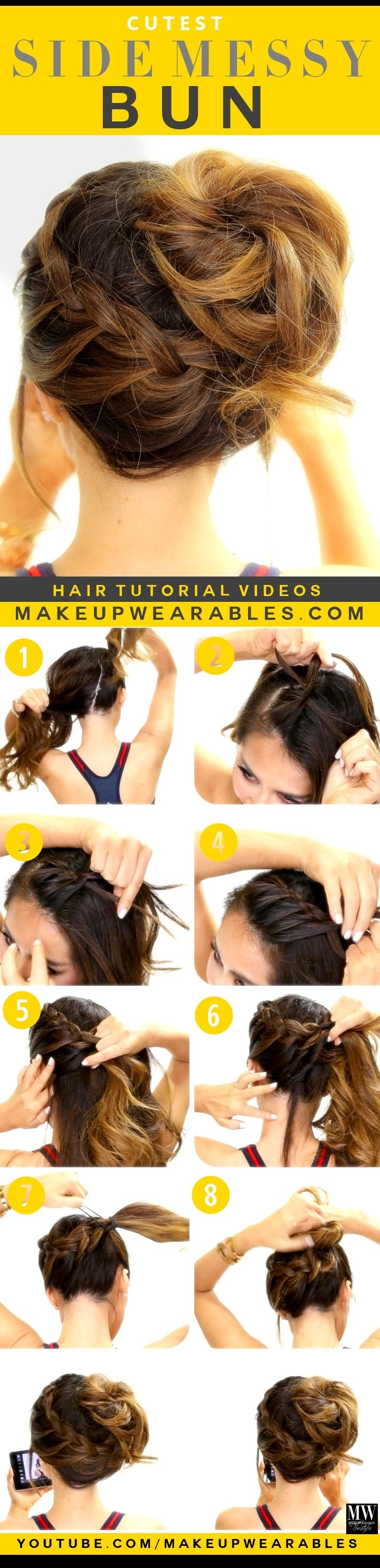 How To Do Messy Side Bun 79