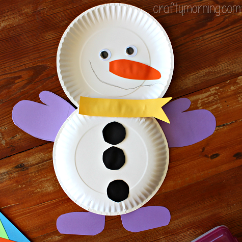 Diy paper plate snowmen pictures photos and images for for Christmas crafts made out of paper plates