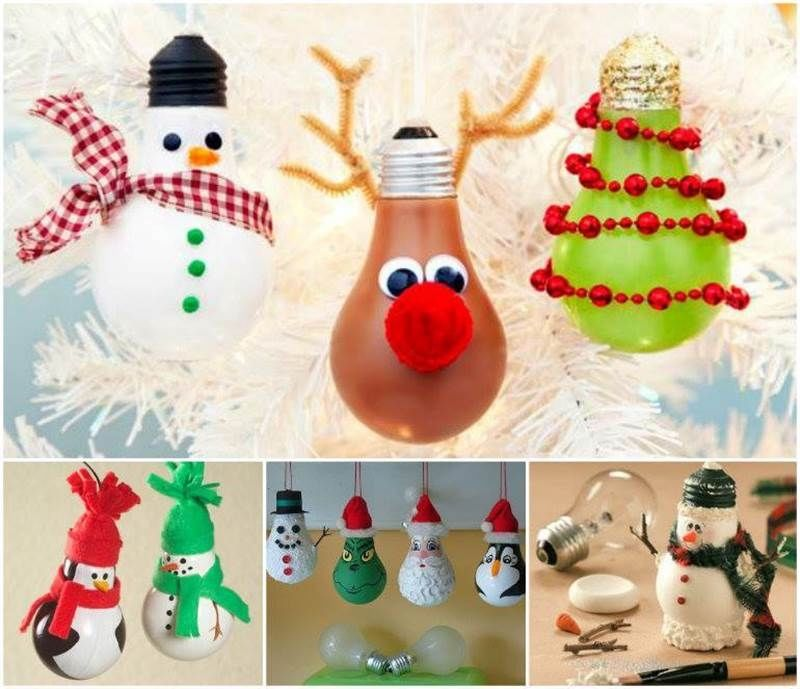 Diy Christmas Bulb Ornaments