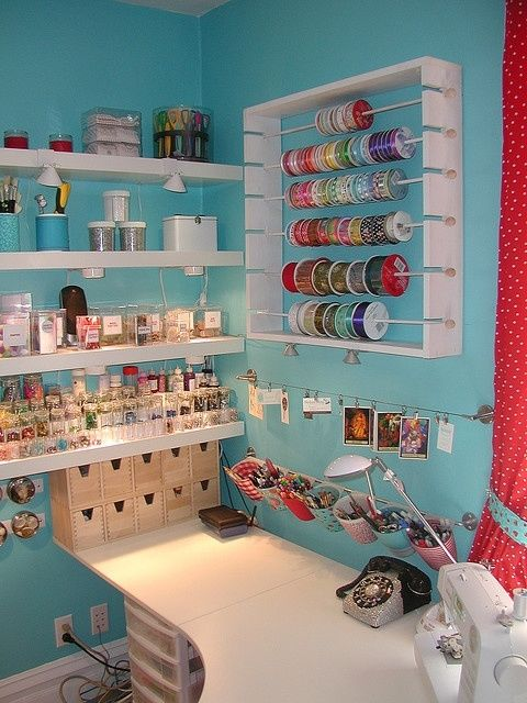 Craft room organization pictures photos and images for facebook tumblr pi - Rangement couture ikea ...