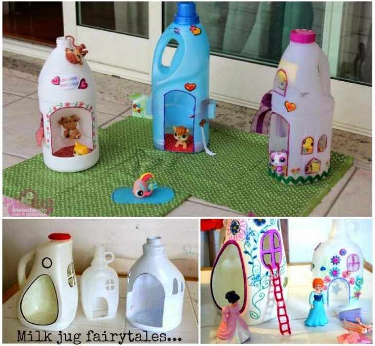 How to make a bottle doll house pictures photos and for Village craft container home