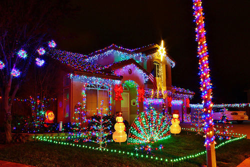 A Very Christmas Decorated Houses Pictures Photos And