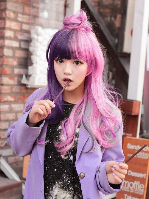 2 Tone Pink Amp Purple Hair Pictures Photos And Images For