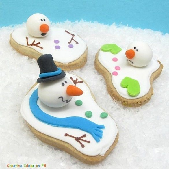 Cute Melted Snowman Cookies Pictures Photos And Images For