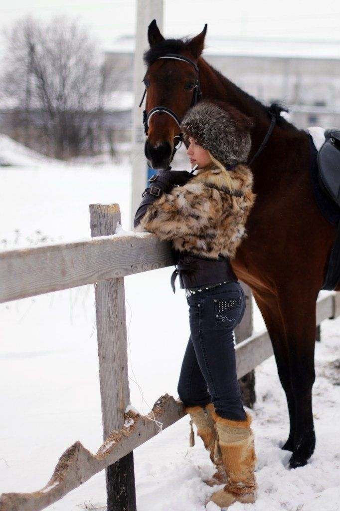 Woman And Horse Pose Pictures Photos And Images For