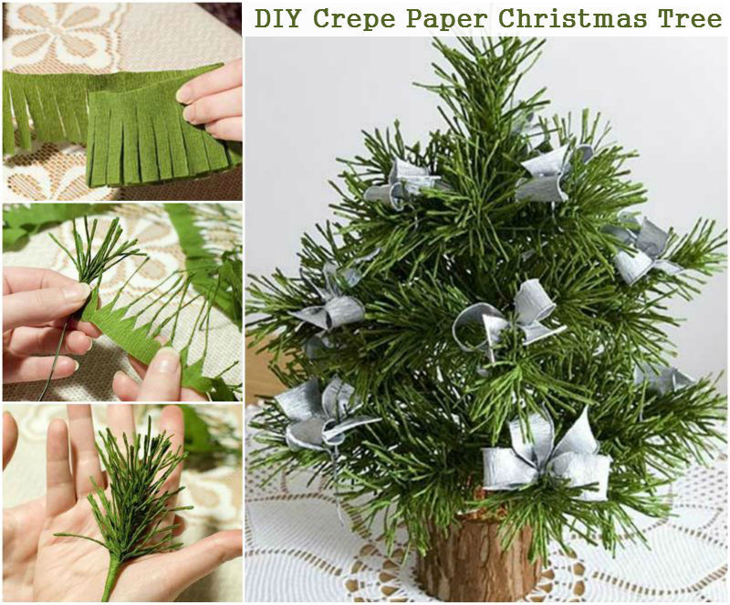 how to make a crepe paper christmas tree - How To Make A Paper Christmas Tree