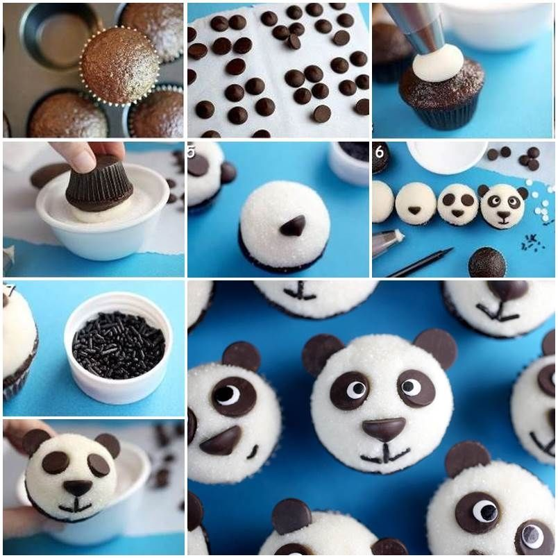 How To Make Panda Topping Cupcakes Pictures Photos And