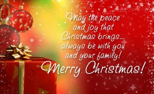 May The Peace And Joy That Christmas Brings Always Be With You And ...