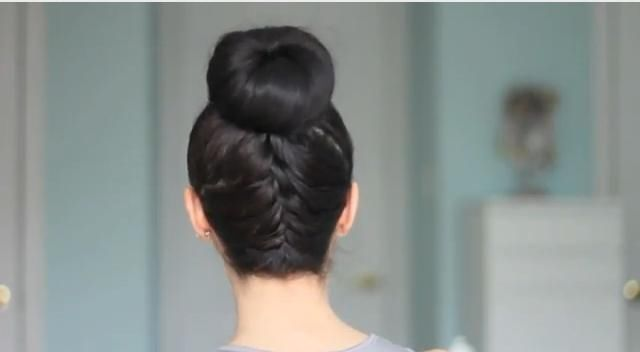 Upside down french braid bun tumblr